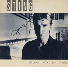 Sting Autographed The Dream of The Blue Turtles Album With Black Ink - PSA/DNA COA