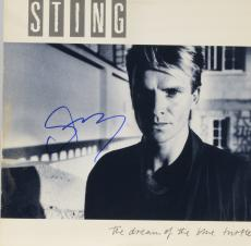 Sting Autographed The Dream of The Blue Turtles Album With Blue Ink - PSA/DNA COA