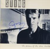Sting Autographed The Dream of The Blue Turtles Album Cover With Blue Ink - PSA/DNA COA