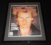 Sting Framed September 1 1983 Rolling Stone Cover Display