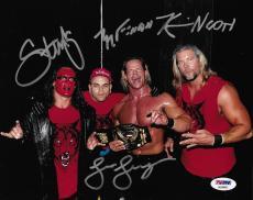 Sting & Kevin Nash Konnan Lex Luger NWO Signed WWE 8x10 Photo PSA/DNA COA WCW