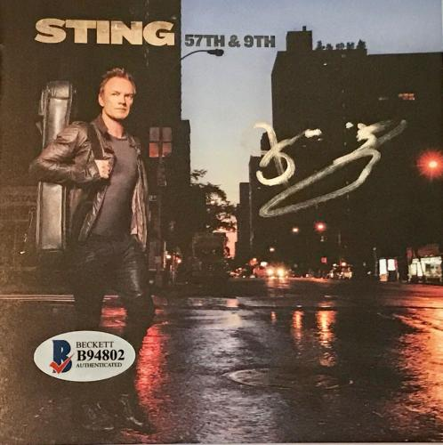 Sting of the police signed cd 57th & 9th autographed with beckett coa