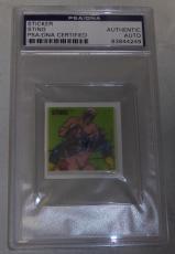 Sting Signed 1991 WCW Larami Vinyl Sticker Card PSA/DNA COA RARE WWE Autograph 1