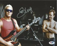 Sting Signed 8x10 Photo PSA/DNA COA Picture Autograph WCW WWE w/ Guitar Police