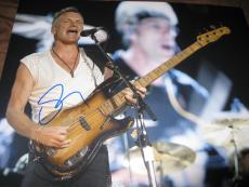 STING SIGNED AUTOGRAPH 11x14 PHOTO THE POLICE IN PERSON MESSAGE IN A BOTTLE G