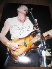STING SIGNED AUTOGRAPH 11x14 PHOTO THE POLICE IN PERSON PROMO ROCK AND ROLL L