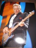 STING SIGNED AUTOGRAPH 11x14 PHOTO THE POLICE IN PERSON PROMO ROCK AND ROLL N
