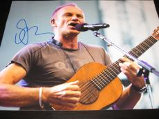 STING SIGNED AUTOGRAPH 11x14 PHOTO THE POLICE ROXANNE IN PERSON RARE COA B