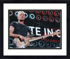 Sting Signed Autograph 11x14 Photo - The Police Stud, Zenyatta Mondatta, Jsa
