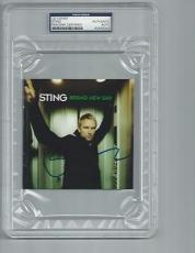 """STING signed autographed """"BRAND NEW DAY"""" CD PSA/DNA SLABBED! THE POLICE"""