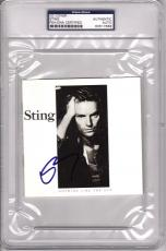 "STING Signed Autographed ""Nothing Like The Sun"" CD Cover PSA/DNA SLABBED"