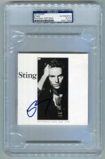 """STING signed autographed """"NOTHING LIKE THE SUN"""" CD PSA/DNA SLABBED!"""