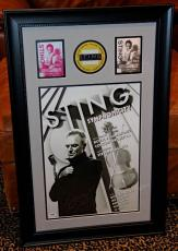 STING signed autographed poster photo FRAMED backstage pass VIP PSA DNA POLICE