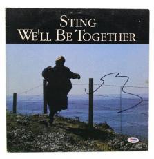 "STING Signed Autographed ""We'll Be Together"" Album LP PSA/DNA #S30665"