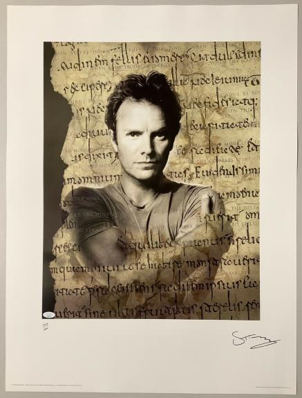 Sting Signed Poster 24x32 Lithograph The Police Autograph Music LE 1427/1500 JSA