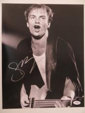 Sting Signed The Police Authentic Autographed 11x14 Photo (JSA) #E94699