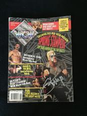 Sting Signed Wcw Magazine Wwe