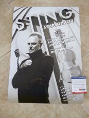 STING SYMPHONICITY Police Signed Autograph Poster Lithograph 13x19 PSA Certified