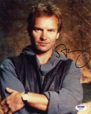 Sting The Police Autographed Signed 8x10 Photo Authentic PSA/DNA COA