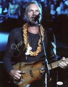 Sting The Police Signed 11X14 Photo Autographed JSA #F30926
