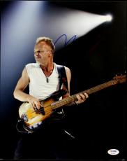 Sting The Police Signed 11X14 Photo Autographed PSA/DNA #P72380