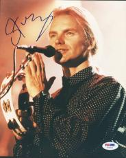 Sting The Police Signed 8X10 Photo Autographed PSA/DNA #U70010