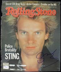 Sting The Police Signed Rolling Stone Magazine Cover JSA #H04387