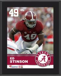 "Ed Stinson Alabama Crimson Tide Sublimated 10.5"" x 13"" Plaque"