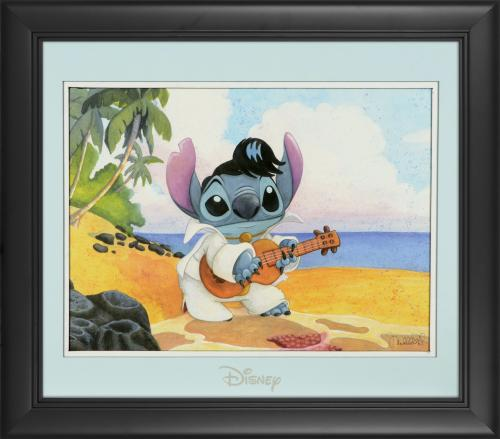"Stitch Disney Framed ""Island King"" 11"" x 14"" Matted Photo"