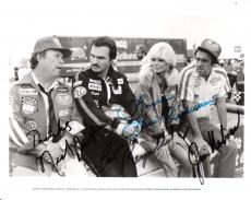 "STOKER ACE"" Signed by 4 - BURT REYNOLDS, NED BEATTY, JIM NABORS, and LONI ANDERSON - 10x8 B/W Photo"