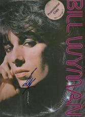STONE ALONE signed BILL WYMAN - promo record - AUTHENTICATED