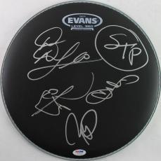 Stone Temple Pilots (4) Bennington Signed 13 Inch Drumhead PSA #V07809