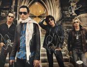 Stone Temple Pilots Band Signed STP 11X14 Photo JSA