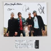 Stone Temple Pilots Signed 8×10 Photo Chester Bennington w/ Ticket – COA BAS