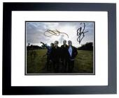 Chester Bennington - Stone Temple Pilots STP Group Signed - Autographed 8x10 inch Photo by Chester Bennington, Eric Kretz, Robert DeLeo, and Dean DeLeo - BLACK CUSTOM FRAME - Guaranteed to pass PSA or JSA