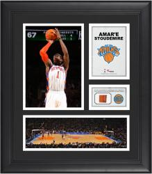 "Amar'e Stoudemire New York Knicks Framed 15"" x 17"" Collage with Team-Used Ball"