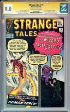 Strange Tales #110 Cgc 9.0 Ss Stan Lee Oww 1st App Of Dr Strange #1203524007