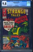 Strange Tales #135 Cgc 9.8 Oww 1st App Nick Fury Cgc Highest Graded #1039850009