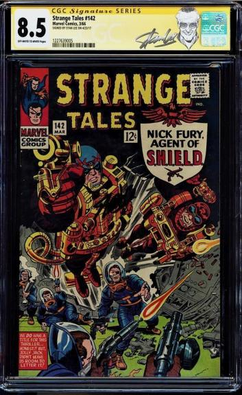 Strange Tales #142 Cgc 8.5 Oww Ss Stan Lee Signed Sig Series Cgc #1227639005