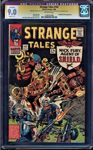 STRANGE TALES #142 CGC 9.0  SS STAN LEE SIGNED CGC #1206503008 Restored