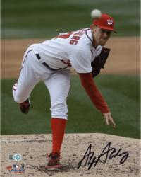 "Stephen Strasburg Washington Nationals Autographed 8"" x 10"" Follow Thru Photograph"