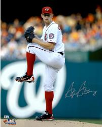 "Stephen Strasburg Washington Nationals Autographed 16"" x 20"" Vertical Leg Up Photograph"