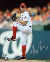 "Stephen Strasburg Washington Nationals Autographed 8"" x 10"" Vertical Leg Up Photograph"