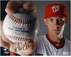 "Stephen Strasburg Washington Nationals Autographed 8"" x 10"" Close-Up Photograph"