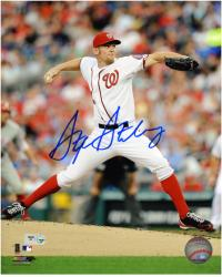 "Stephen Strasburg Washington Nationals Autographed 8"" x 10"" White Jersey Photograph"