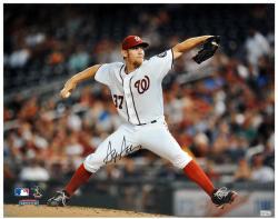 "Stephen Strasburg Washington Nationals Autographed 16"" x 20"" Pitch Photograph"