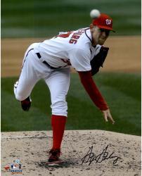"Stephen Strasburg Washington Nationals Autographed 16"" x 20"" Follow Thru Photograph"