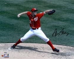 """Stephen Strasburg Washington Nationals Autographed 16"""" x 20"""" Delivery Side View Photograph"""