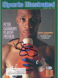 Autographed Darryl Strawberry Sports Illustrated Magazine – 10/6/1986