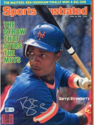 Darryl Strawberry Signed Sports Illustrated Magazine – 4/23/1984